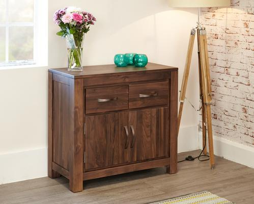 Mayan Walnut Small Sideboard Two Door Two Drawer Rustic image 3
