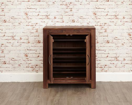 Mayan Walnut Shoe Cupboard Rustic Design image 5