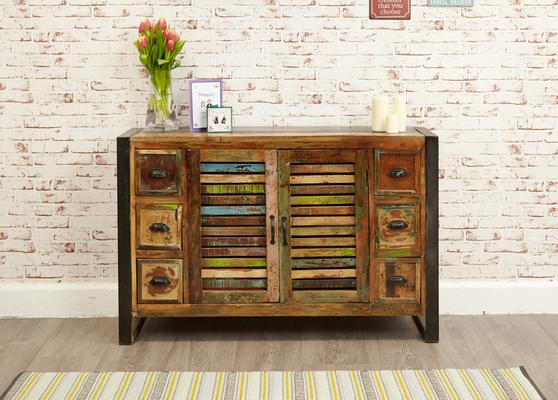 Urban Chic Sideboard 6 Drawer 2 Door Reclaimed Timber image 2