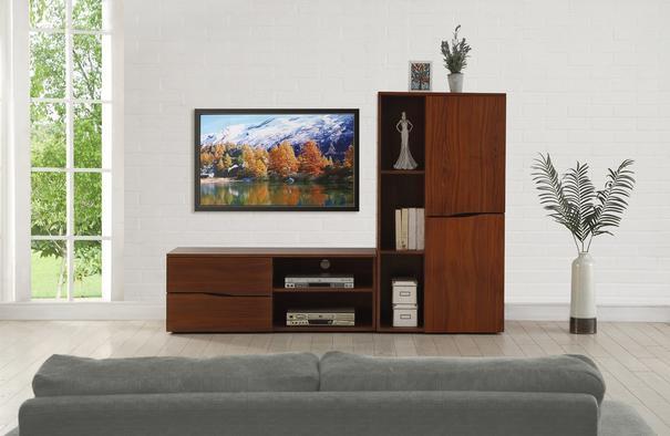 Jual Bella Walnut Modern Tall Cabinet JF805 image 2