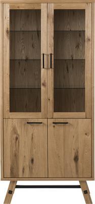 Stockhelm (Wild Oak) display cabinet