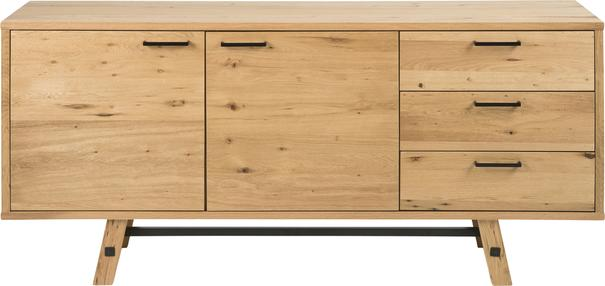 Stockhelm (Wild Oak) 2 door 3 drawer sideboard