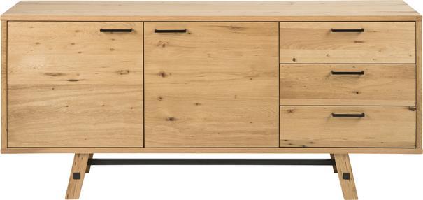 Stockhelm (Wild Oak) 2 door 3 drawer sideboard