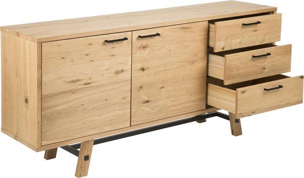 Stockhelm (Wild Oak) 2 door 3 drawer sideboard image 3