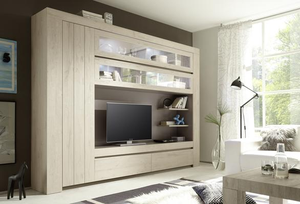 Monza Wall Unit in Rose Beige Finish - Including 4 LED Spotlights