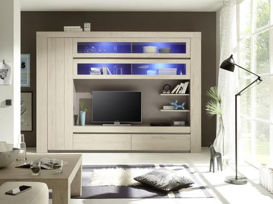 Monza Wall Unit in Rose Beige Finish - Including 4 LED Spotlights image 2