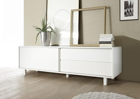 Ancona Low Sideboard  - Matt White