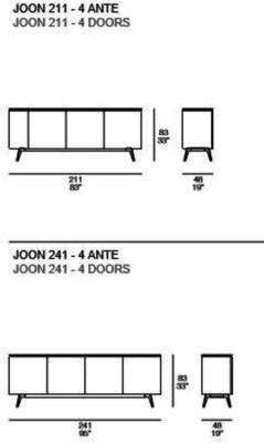 Joon 4 door sideboard image 6