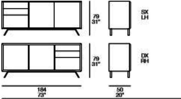 Modus 2 door 3 drawer sideboard image 4