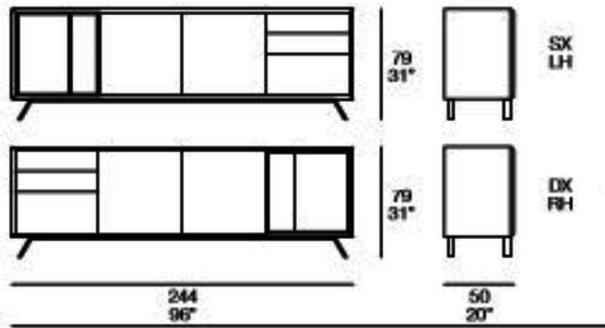 Modus (open) 2 door 2 drawer sideboard image 5