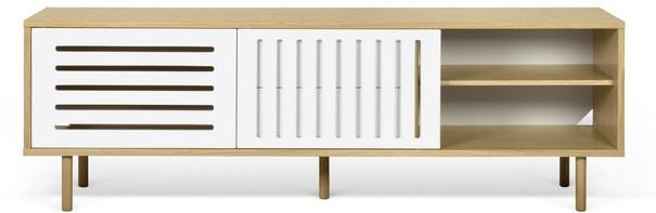 Dann (stripes) 2 door 2 drawer sideboard image 4