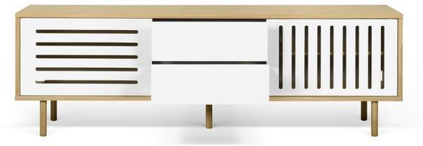 Dann (stripes) 2 door 2 drawer sideboard image 5
