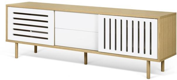 Dann (stripes) 2 door 2 drawer sideboard image 6