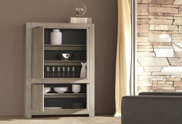 Forli High Sideboard - Caracalla Oak Finish image 2