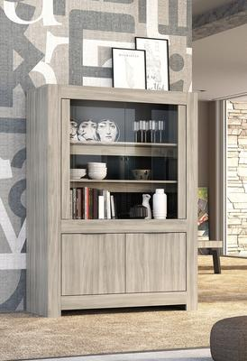 Forli Display Vitrine - Caracalla Oak Finish