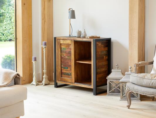 Urban Chic Reclaimed Home Storage Cupboard image 2