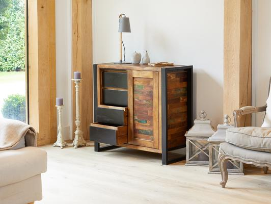 Urban Chic Reclaimed Home Storage Cupboard image 3