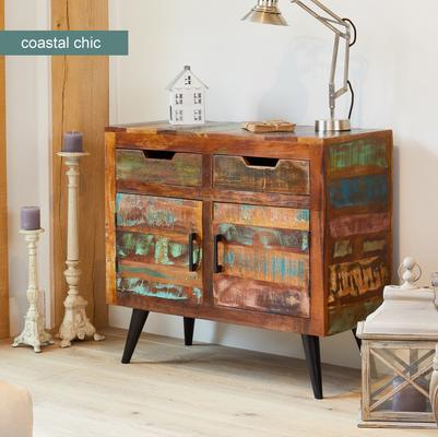 Coastal Chic Small Sideboard 3 Drawer 3 Door Reclaimed Timber image 2
