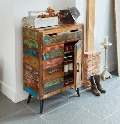 Coastal Chic Shoe Cupboard Reclaimed Timber image 2
