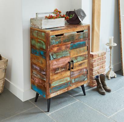Coastal Chic Shoe Cupboard Reclaimed Timber