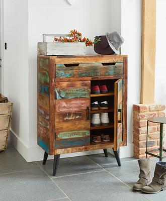 Coastal Chic Shoe Cupboard Reclaimed Timber image 3
