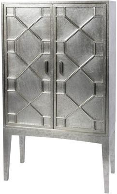 Astor Hand Embossed Metal Bar Cabinet