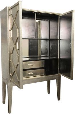 Astor Hand Embossed Metal Bar Cabinet image 3