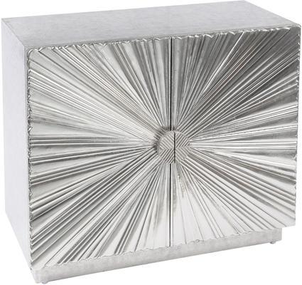 Starburst Metal Small Cabinet Hand Embossed