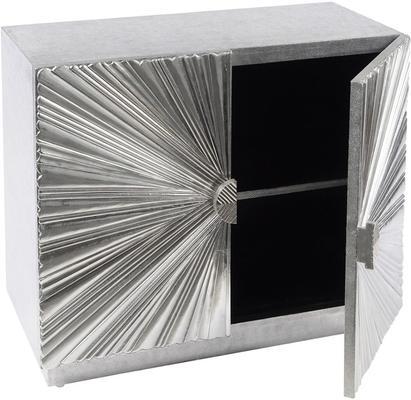 Starburst Metal Small Cabinet Hand Embossed image 2