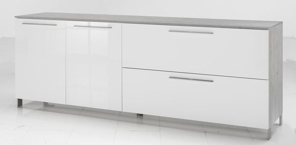 Modica Large Sideboard - White and Grey Finish image 2