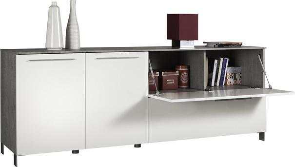 Modica Large Sideboard - White and Grey Finish image 3