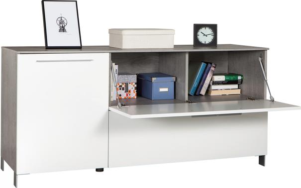 Modica Small Sideboard - Gloss White and Grey Finish image 2