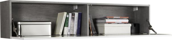 Modica Long Wall Unit - White and Grey Finish