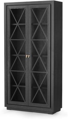 York Wenge Oak Cabinet Glass Doors