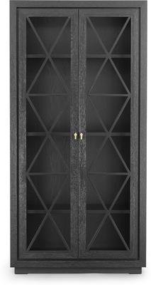 York Wenge Oak Cabinet Glass Doors image 2