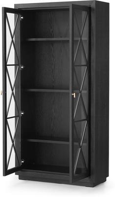 York Wenge Oak Cabinet Glass Doors image 4