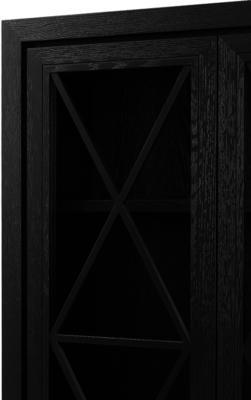 York Wenge Oak Cabinet Glass Doors image 5