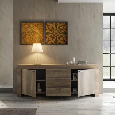 Livorno Two Door Three Drawer Sideboard - San Remo Oak Finish image 3