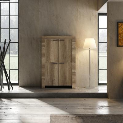 Livorno Four Door Highboard - San Remo Oak Finish image 2