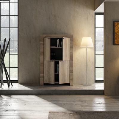 Livorno Four Door Highboard - San Remo Oak Finish image 3