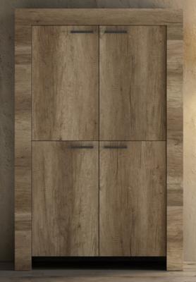 Livorno Four Door Highboard - San Remo Oak Finish