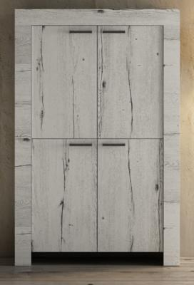 Livorno Four Door Highboard - White Oak Finish