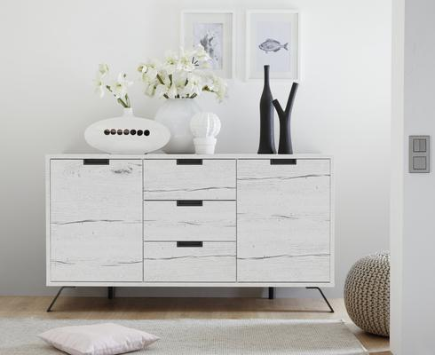 Palma Sideboard Two Doors and Three Drawers - White Oak finish