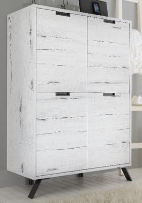 Palma Four Door Highboard in White Oak finish