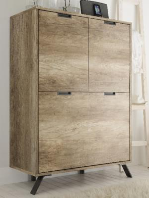Palma Four Door Highboard - San Remo Oak finish