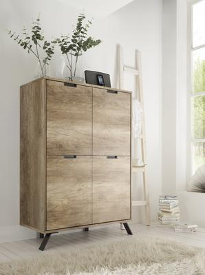 Palma Four Door Highboard - San Remo Oak finish image 2