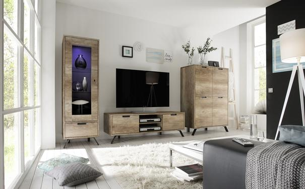 Palma Four Door Highboard - San Remo Oak finish image 4