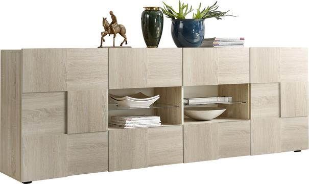 Treviso Long Sideboard - Two Doors / Four Drawers in Samoa Oak Finish