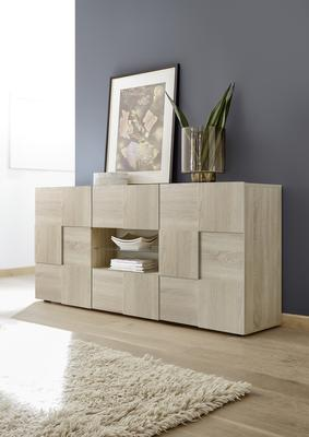 Treviso Sideboard - Two Doors/ Two Drawers Samoa Oak Finish image 2