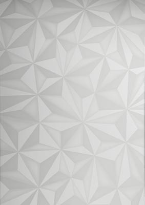 Brescia Display Vitrine with LED Spot - Gloss White with Grey Stencil image 4